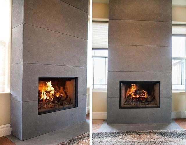 Contemporary fireplace mantel photos