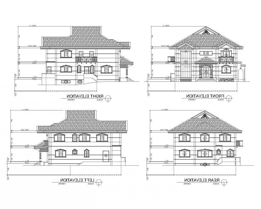 Sample house elevation photos