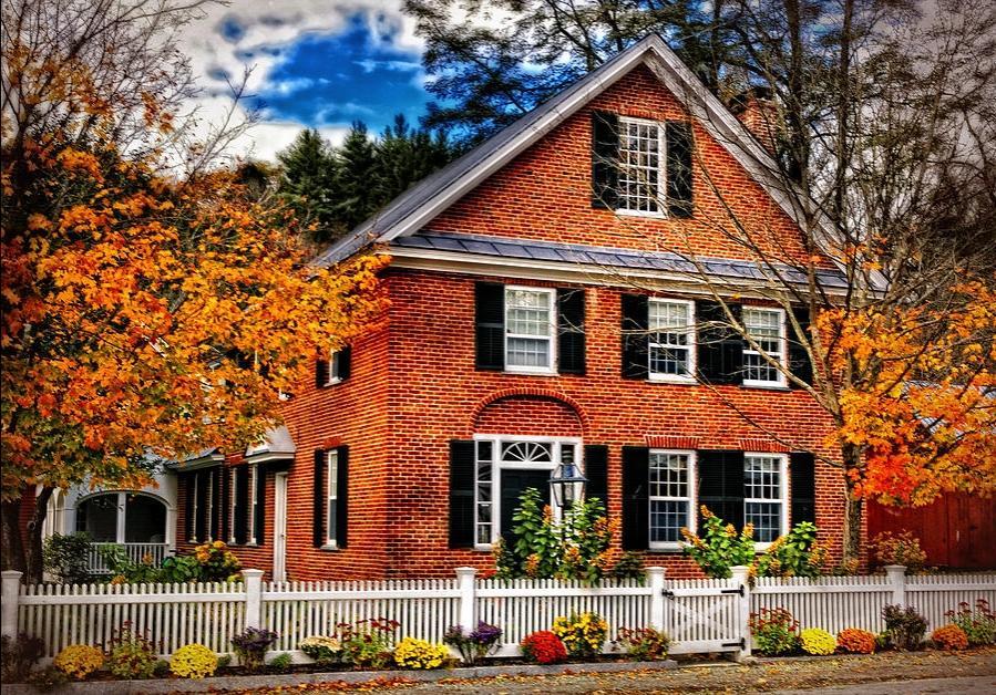 Orange Brick House Photos