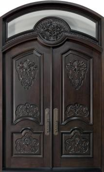 Hand Carved Wood Door