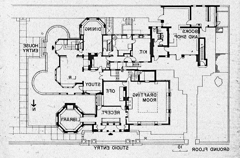 Frank lloyd wright house plans photos