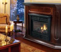 Gas fireplace photo