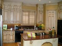 Glazed distressed cabinets photos