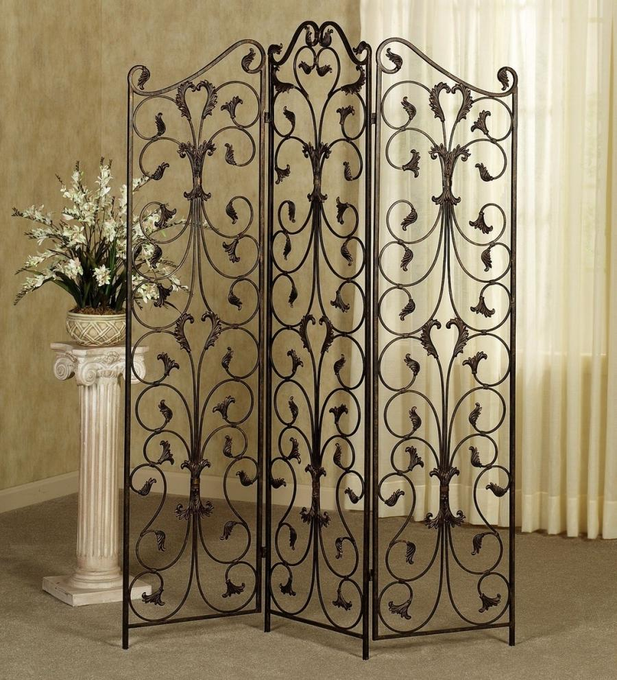 Wrought iron photo room divider