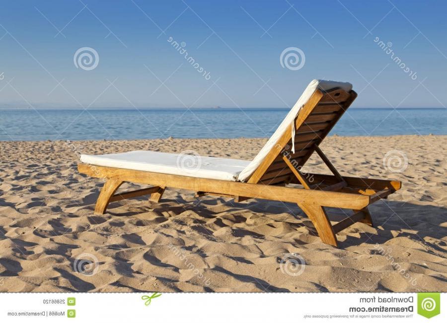 Beach chair and ocean photography