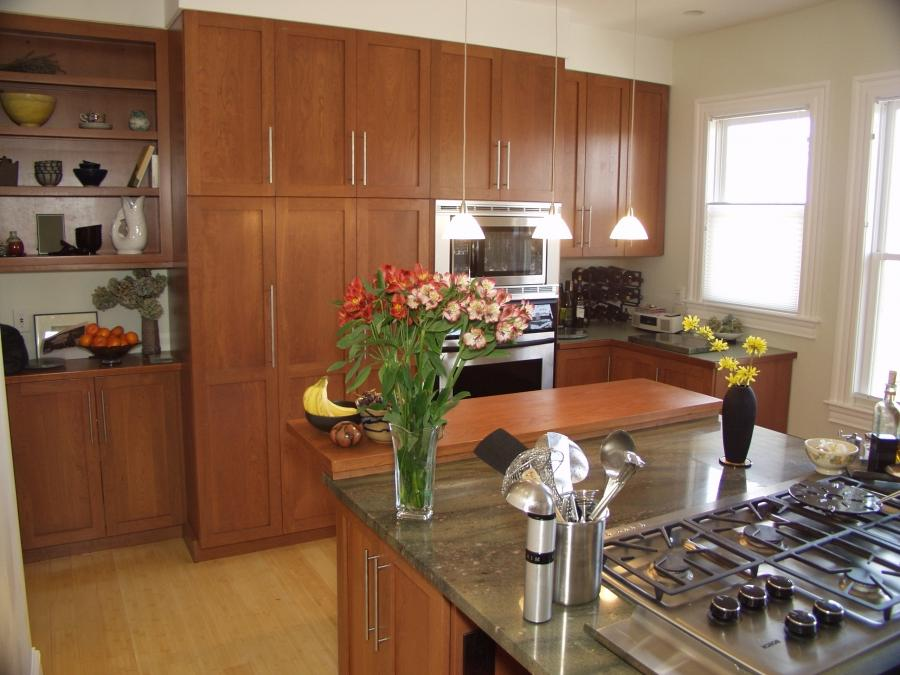 Cinnamon maple kitchen cabinet photos