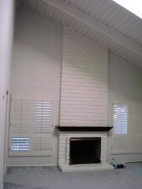 Photos white brick fireplaces
