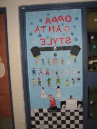 Christmas door decorating contest photos