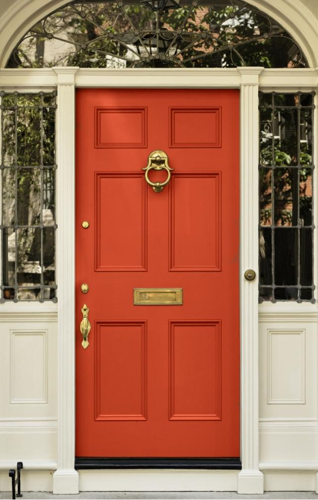 Dark red door photos