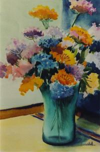 Photos of flowers in a vase