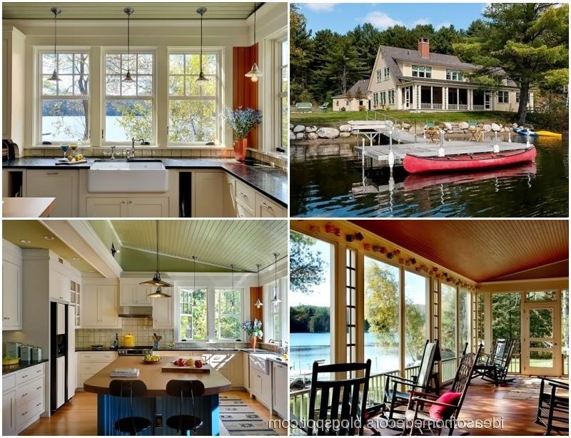 Lake cottage decorating photos