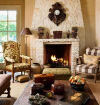 French country family room photos