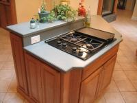 Kitchen island stove top photos