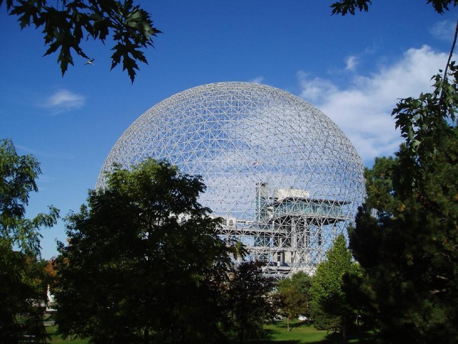 Photo of houses shaped like a sphere