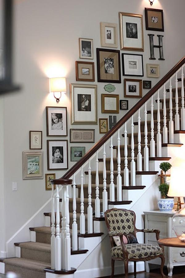 Hanging Family Photos Stairs