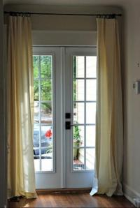 French door window treatment photos