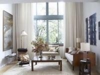 Living room window treatment photos