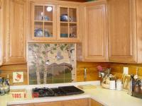 Kitchen backsplash wallpaper photo