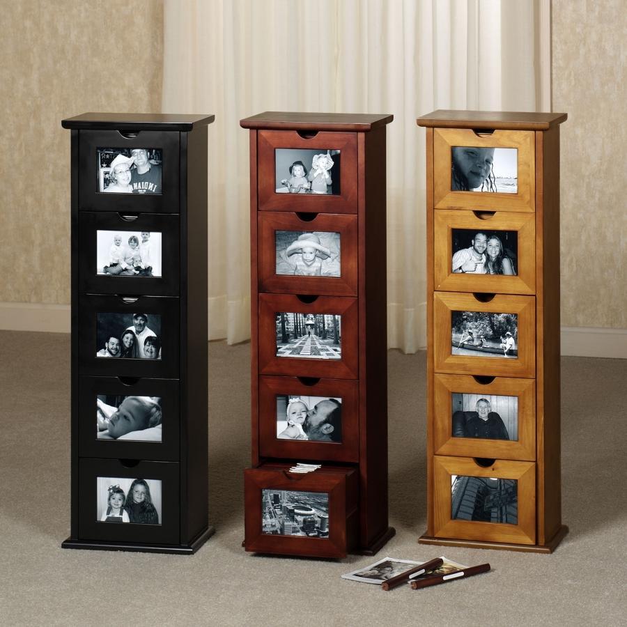 Photo album storage cabinet