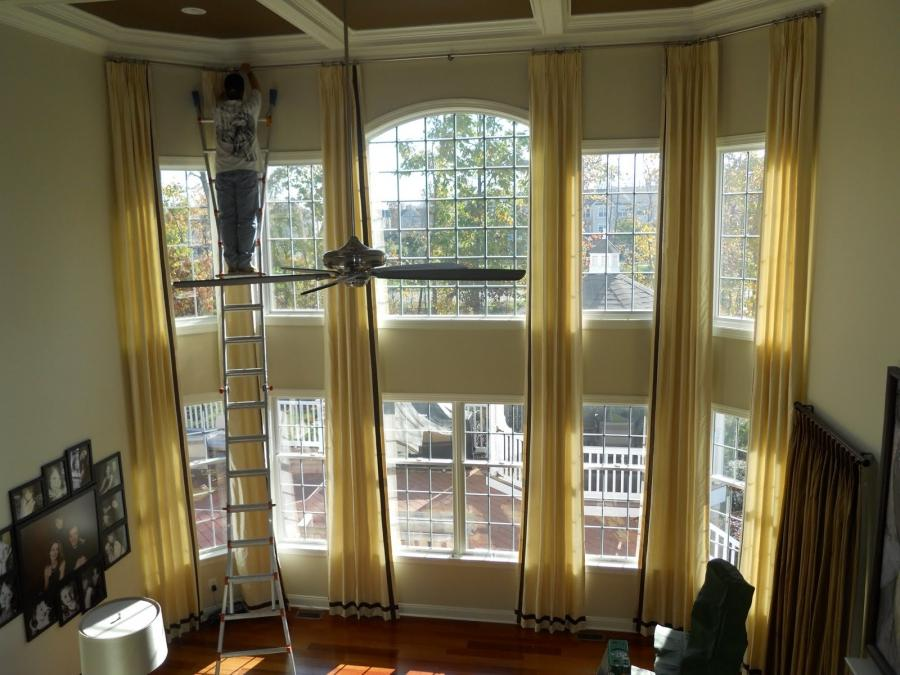 yellow gray and white living room furniture new york city two story curtains photos