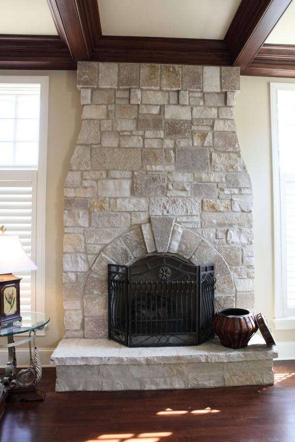 Natural stone fireplace photos