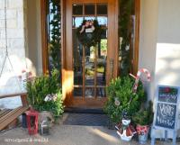 Front door christmas decorations photos