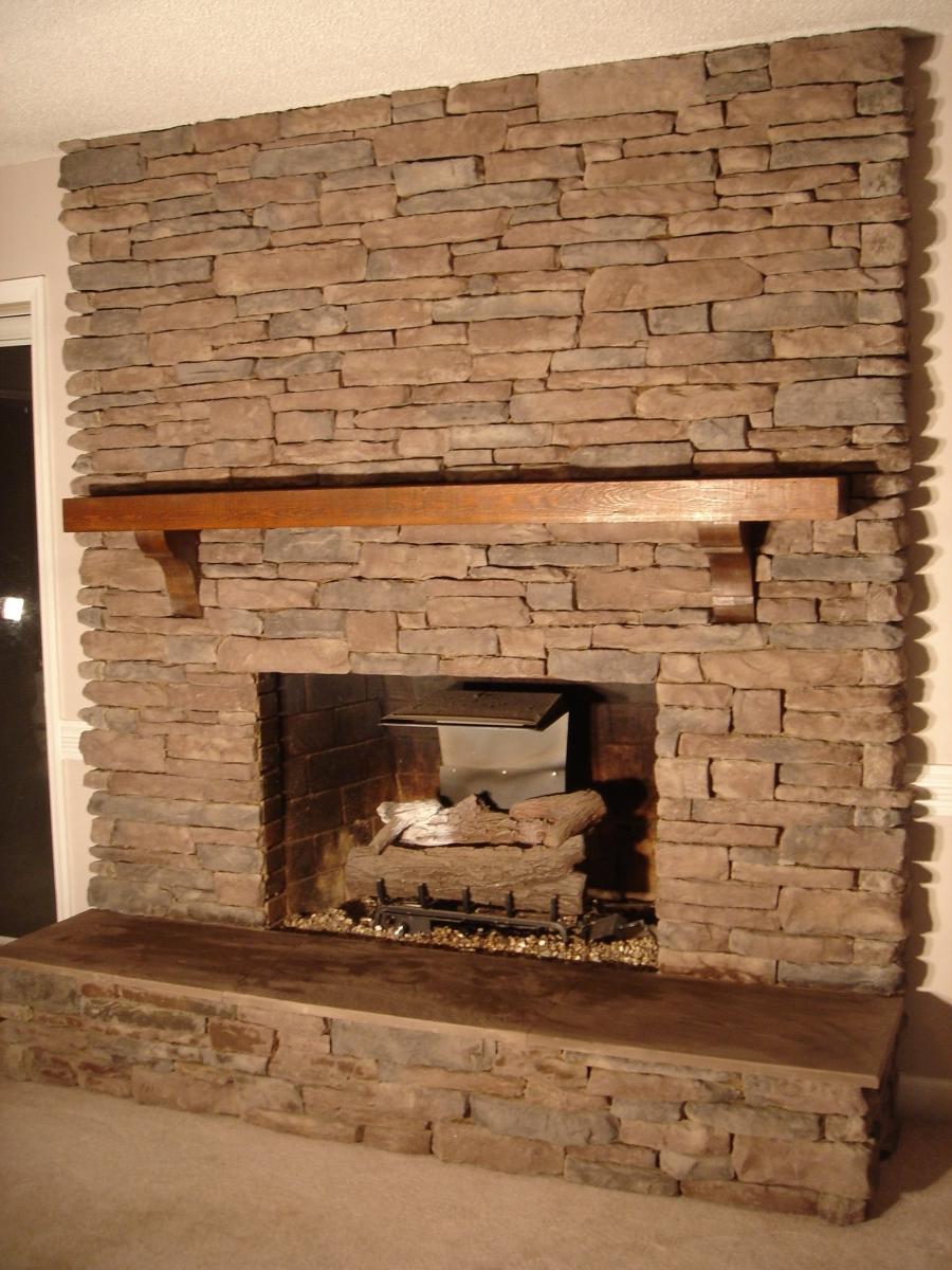 Brick stone fireplace photos