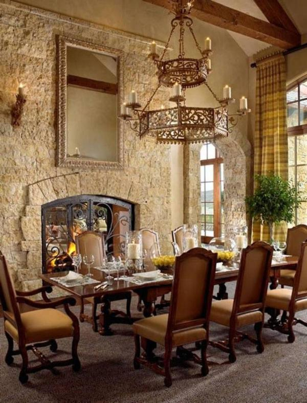 Tuscan Fireplace Design