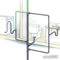 Bathroom vent pipe photo