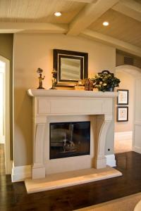 French country fireplace photos