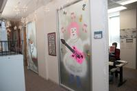 Holiday office door decorating ideas photos