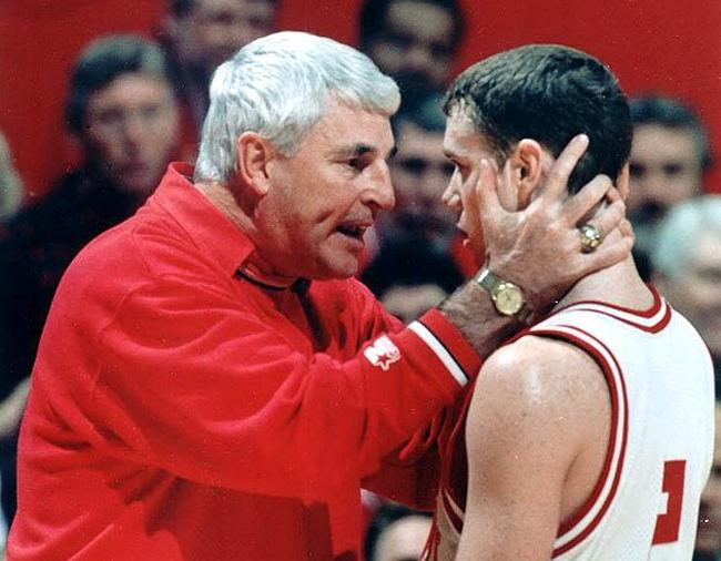 Bobby knight throwing chair photo