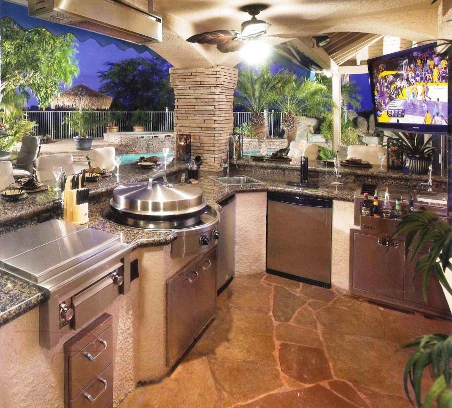 outside kitchen designs metal table for luxury outdoor kitchens photo gallery