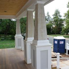 Covered Outdoor Kitchen Countertops Porch With Columns Photos