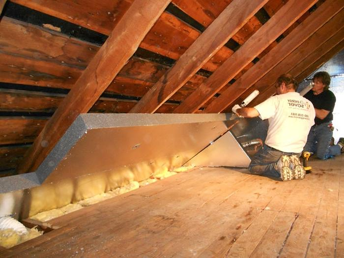 Attic insulation types photos