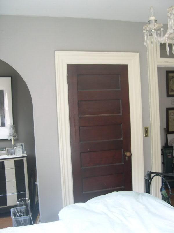 Stained Door White Trim Photos