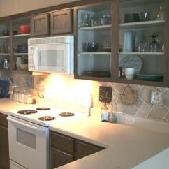 Upper Kitchen Cabinets L Shaped Table Doorless Photos