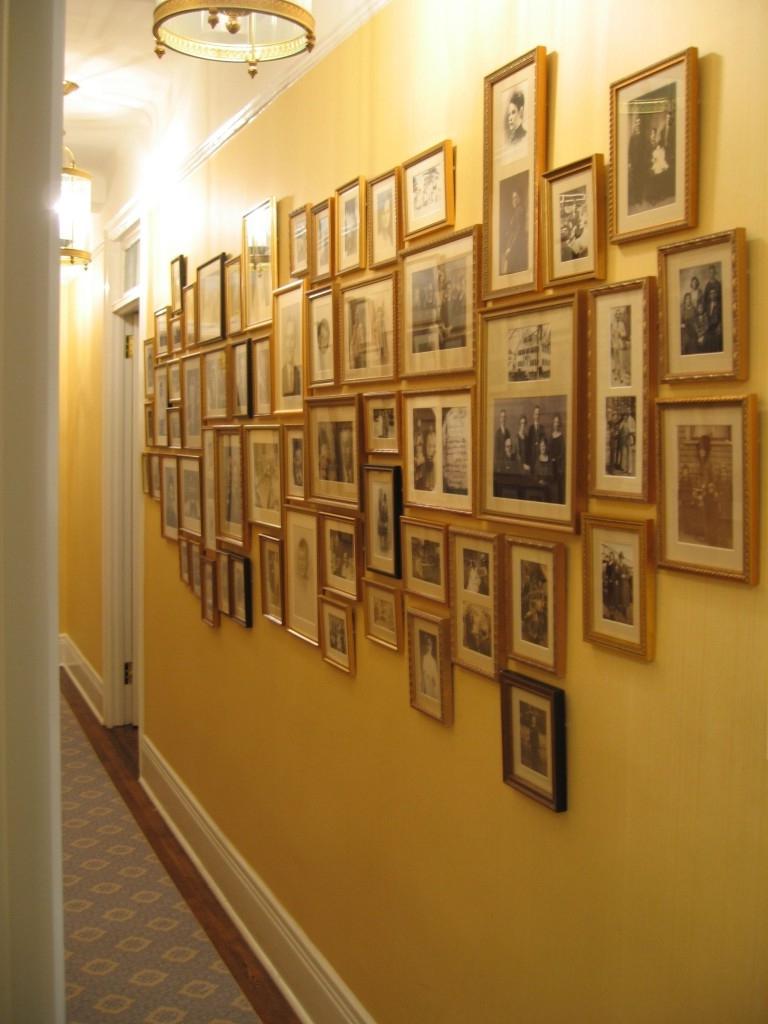 How to arrange family photos in hallway