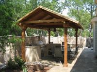 Covered outdoor kitchen photos