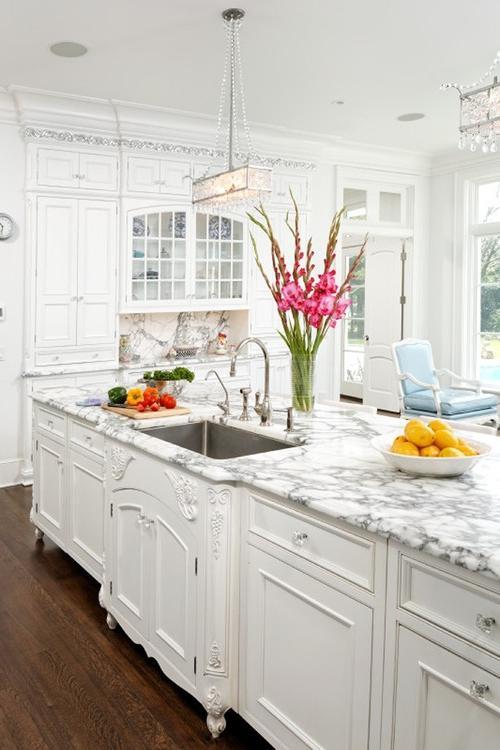 Photos Elegant White Kitchens