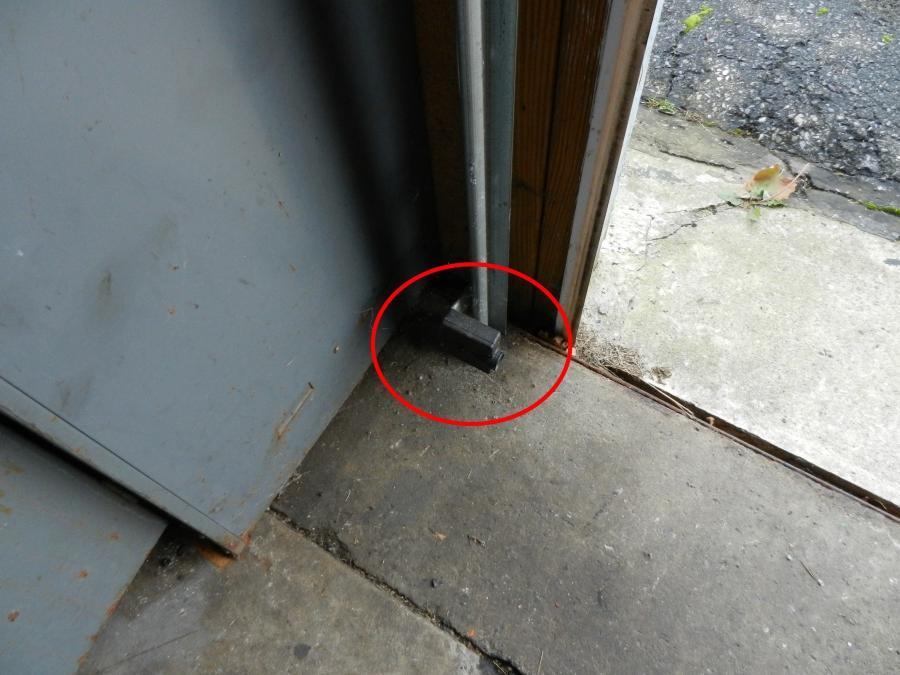 Garage door photo eye sensors