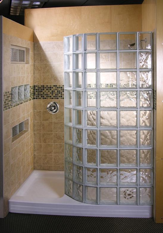 Glass block shower designs photos