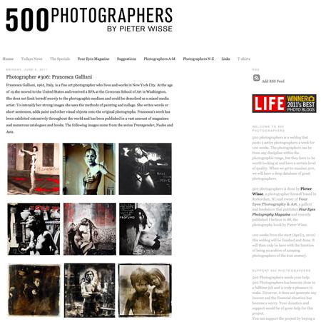 Schouderklopje LIFE voor 500 Photographers
