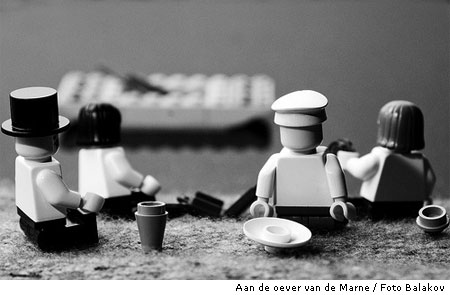 Beroemde foto's nagemaakt met Lego