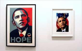 Gevecht om foto Obama