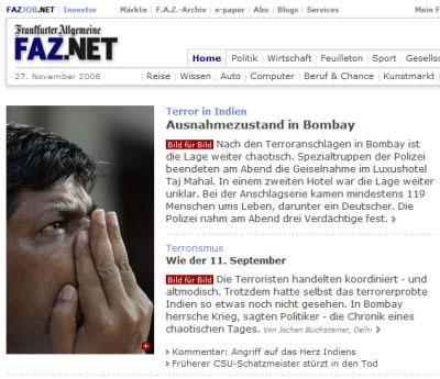 Duitse kranten zien datum foto over hoofd