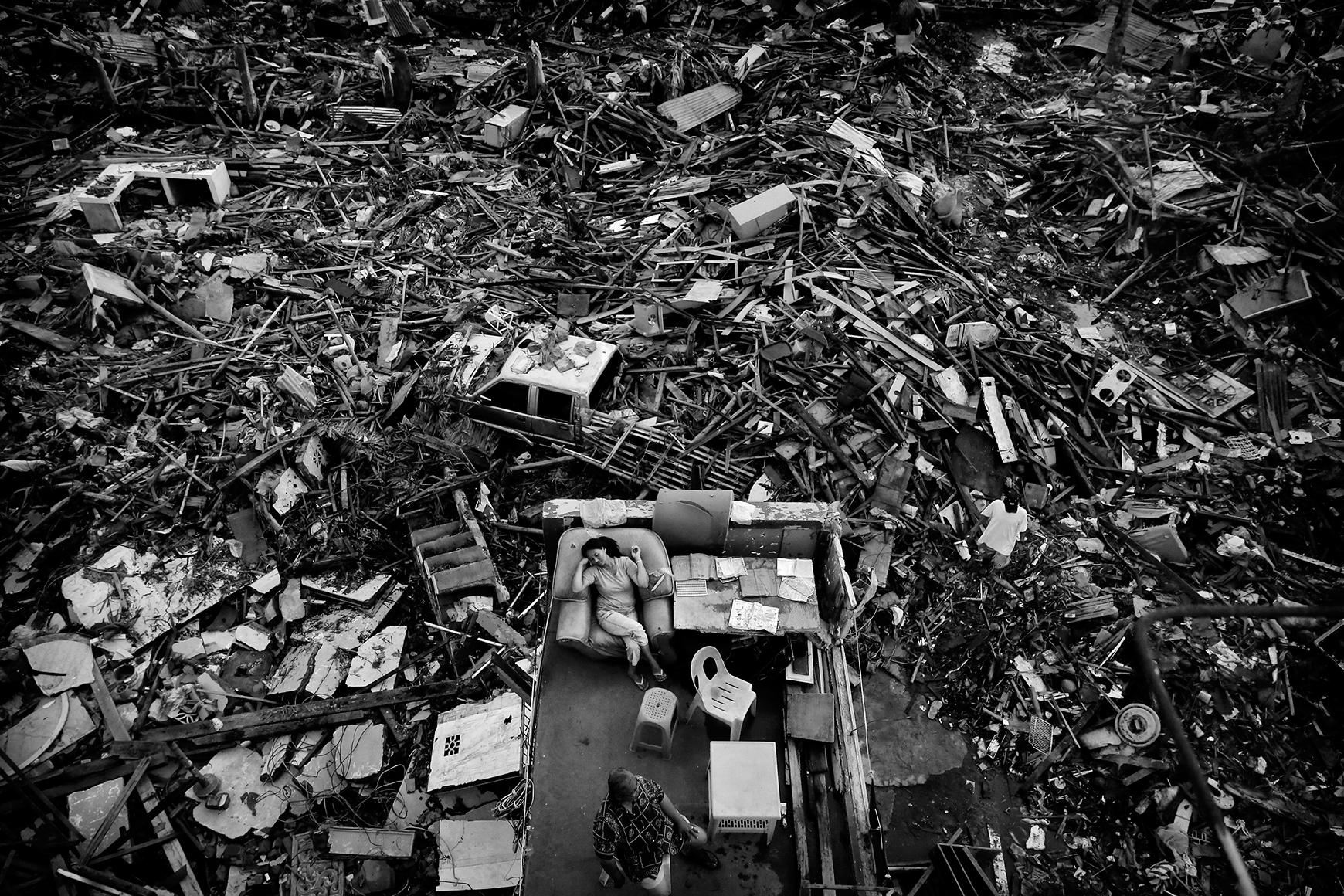 Chinese fotoprijs voor beeld gevolgen orkaan Filippijnen