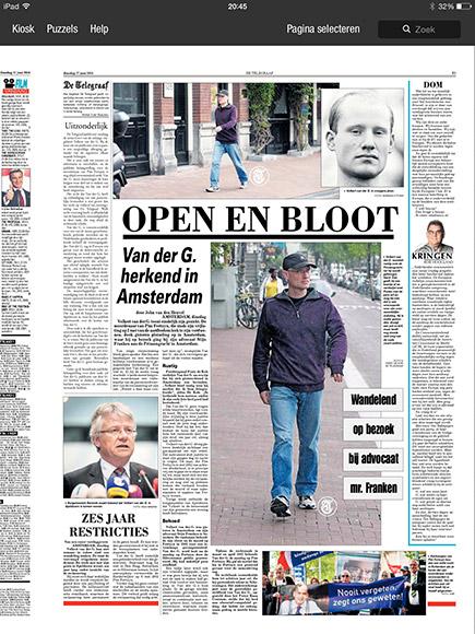 Justitie stuntelt met 'nieuwsfoto' Volkert van der Graaf