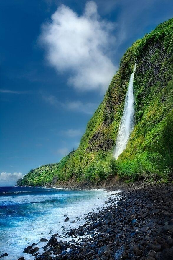 Rainbow Falls Hawaii Wallpaper Kaluahine Falls Big Island Hawaii Photorator