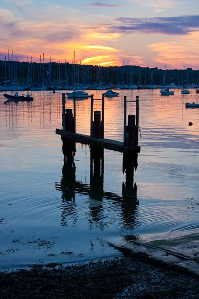 Another photo from the Isle of Wight taken (July 2008) at the Folly Inn looking over the boats mored up.